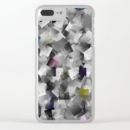 abstract metal pattern Clear iPhone Case