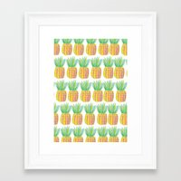 pinapple Framed Art Prints featuring Pinapple PePe by Jessica Soparlo