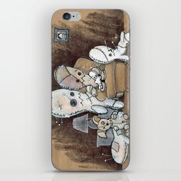 Voodoo Doll Family Portrait iPhone Skin