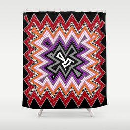 abstract zees 6 Shower Curtain