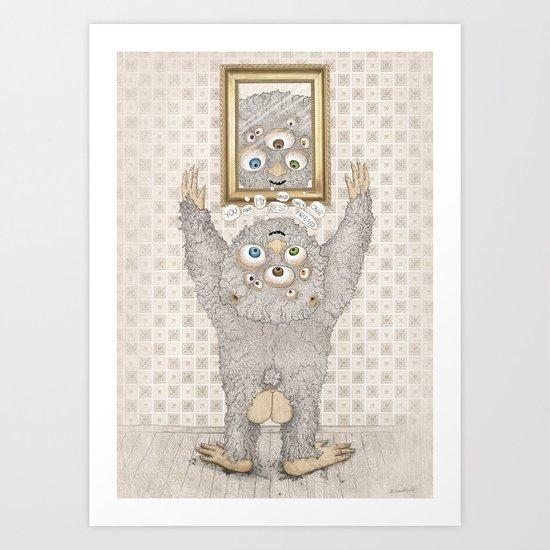 My best friend Monster Art Print