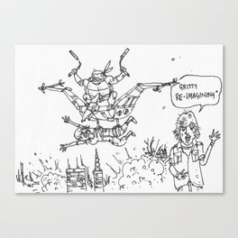 Teenage Mutant Dinosaur Robots by Max (from Farts 'N' Crafts #6) Canvas Print