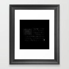 American Flag Space Framed Art Print