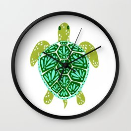 Sea Turtle – Green Palette Wall Clock