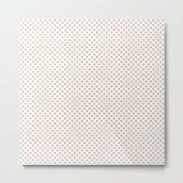 Sand Dollar Polka Dots Metal Print