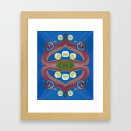 Transitions - Playful passionate inspiration reflections Framed Art Print