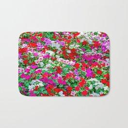Colorful Petunia Flowers Bath Mat