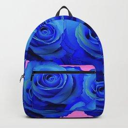 BLUE ROSE GARDEN & PINK PATTERN ART Backpack