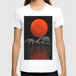 the elephants enjoy sundown -1- T-shirt