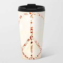Watercolor music peace Travel Mug