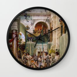 Lawrence Alma-Tadema - Spring - Digital Remastered Edition Wall Clock