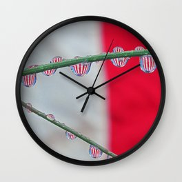 drops of flags Wall Clock