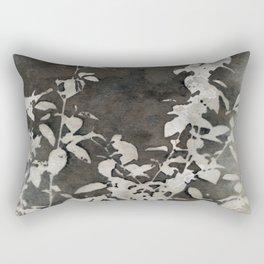Charcoal Flowers Rectangular Pillow