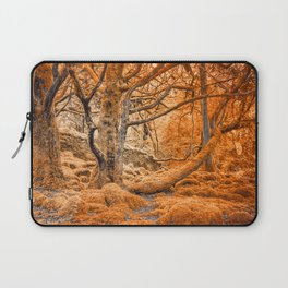 Glowing Amber Forest Laptop Sleeve