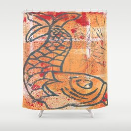 orange carp Shower Curtain