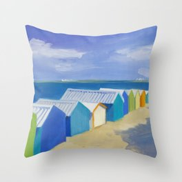 Summer Shacks #3 Throw Pillow