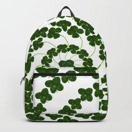 Lucky mandala-real four-leaf clovers Backpack