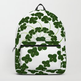 Lucky mandala-real four-leaf clovers Backpack