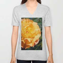 Yellow Summer Rose Unisex V-Neck
