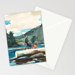 Logging on the Hudson River Stationery Cards