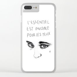 L'essentiel est invisible pour les yeux (What is Essential is Invisible to the Eye) Clear iPhone Case