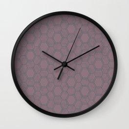 Honeycomb Pattern #2 Wall Clock