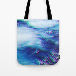 Oceanic Glitches - Very Blue Tote Bag
