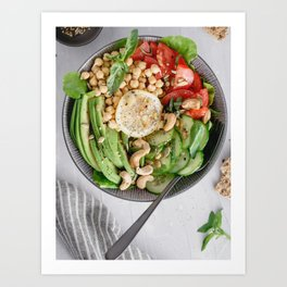 Healthy lunch bowl Art Print