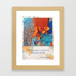 A True Privilege Framed Art Print