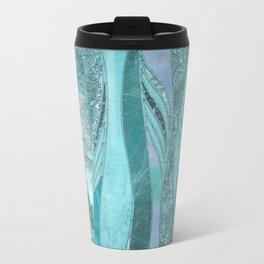 Precious Aqua And Turquoise Glamour Travel Mug