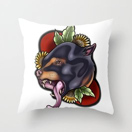 Sunbear Throw Pillow
