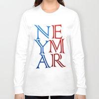 neymar Long Sleeve T-shirts featuring Neymar by Sport_Designs