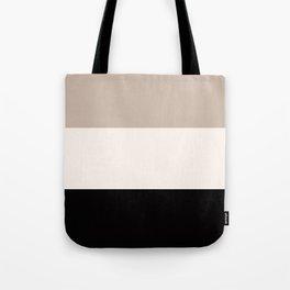 black tan cream bold stripes Tote Bag