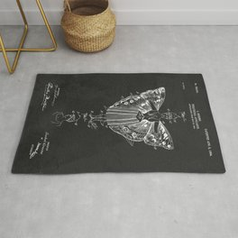 Vintage Theatrical Butterfly Wings Rug
