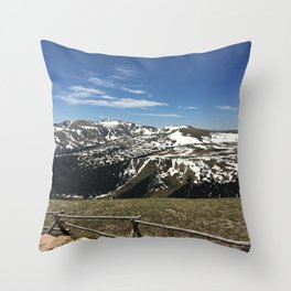 Colorado Mountain View Throw Pillow