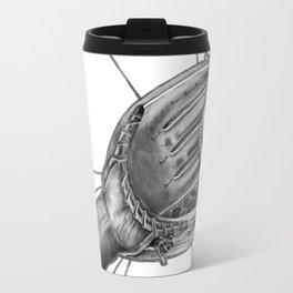 Baseball player b&w Travel Mug