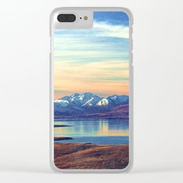 Lake Tekapo New Zealand-Fall Clear iPhone Case