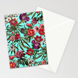 Marijuana and Floral Pattern II Stationery Cards