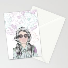 GUM FLOWER GIRL Stationery Cards