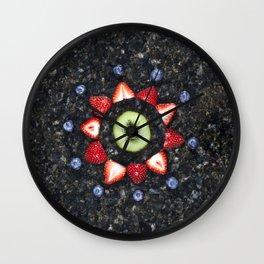 Fruitful Flowers - kiwi Wall Clock