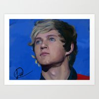niall horan Art Prints featuring Niall Horan  by Tune In Apparel
