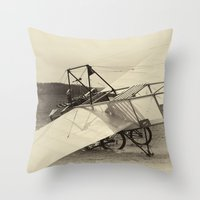 airplane Throw Pillows featuring Airplane by DistinctyDesign