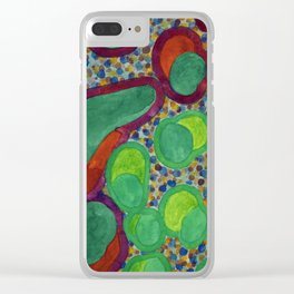 Filled Spicy Vegetables Clear iPhone Case