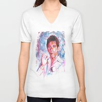 montana V-neck T-shirts featuring Tony montana by Zinaraad