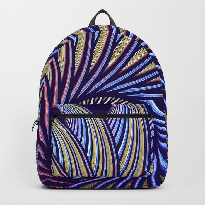 Fantasy bird's eye, fractal pattern abstract Backpack