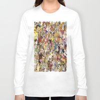 cartoon Long Sleeve T-shirts featuring Cartoon Collage by Myles Hunt