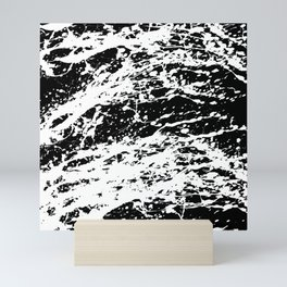 Black and White Paint Splatter Mini Art Print
