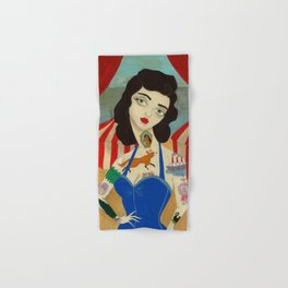 Tattooed Lady Hand & Bath Towel