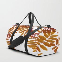 Fall Color Leaves White Background #decor #society6 #buyart Duffle Bag