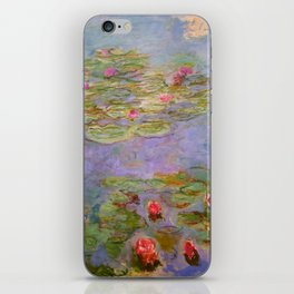 "Claude Monet ""Red Water Lilies"", 1919 iPhone Skin"